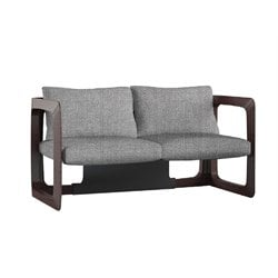 Vifah K Contemporary Loveseat in Gray