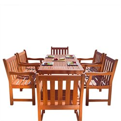 Balthazar 7 Piece Wood Patio Dining Set