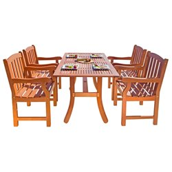 Atlantic 5 Piece Wood Patio Dining Set