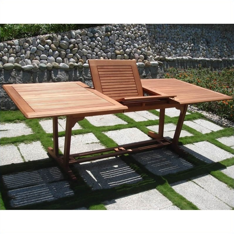 Airblade 9 Piece Wood Patio Dining Set
