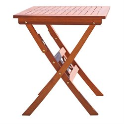 Wood Folding Bistro Table