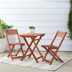 Hardwood 3 Piece Outdoor Bistro Set