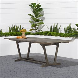 Extendable Patio Dining Table in Natural