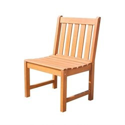 Outdoor Armless Chair in Natural