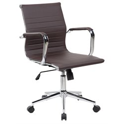 Techni Mobili Modern Medium Back Executive Office Chair in Chocolate
