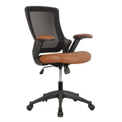 Techni Mobili Mid-Back Mesh Task Office Chair in Brown