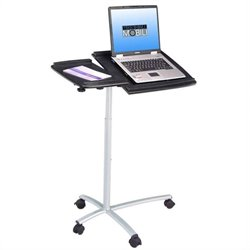 Adjustable Standing Laptop Cart in Graphite