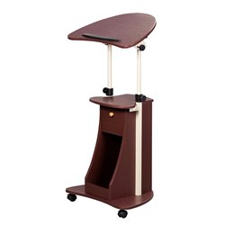 Deluxe Height Adjustable Laptop Cart in Chocolate