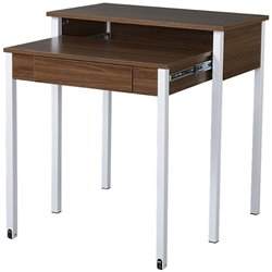 Techni Mobili Retractable Student Desk with Storage in Walnut
