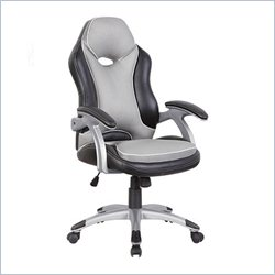 Racer High Back Office Chair in Black and Grey