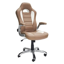Sport Race Executive Office Chair in Camel
