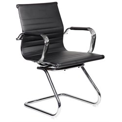 Modern Visitor Chrome Chair in Black