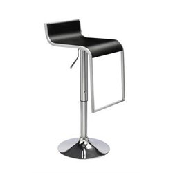 Swivel Adjustable Barstool in Chrome (Set of 2)