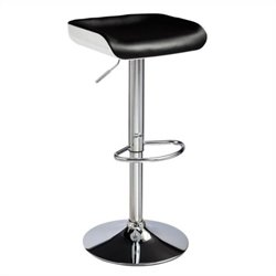 Adjustable Bar Stool in Black and White