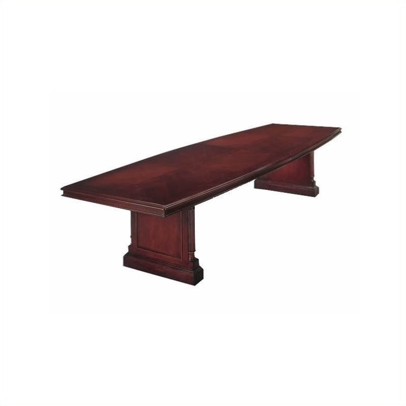 DMi Keswick Boat Shaped 10' Conference Table with Slab Base in Cherry