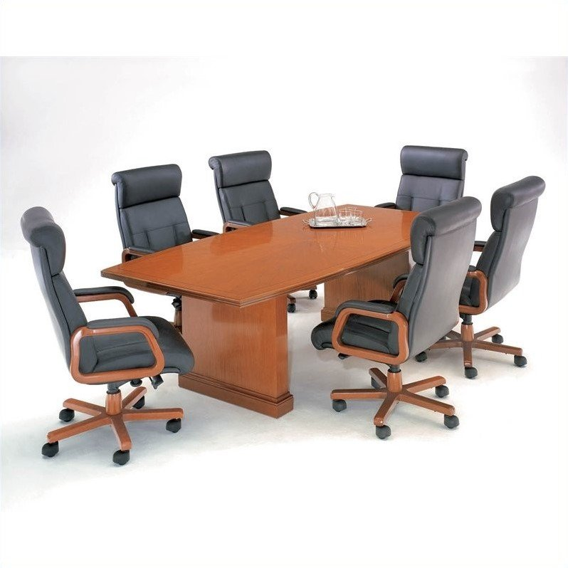 DMi Furniture Belmont 10' Boat Shaped Conference Table