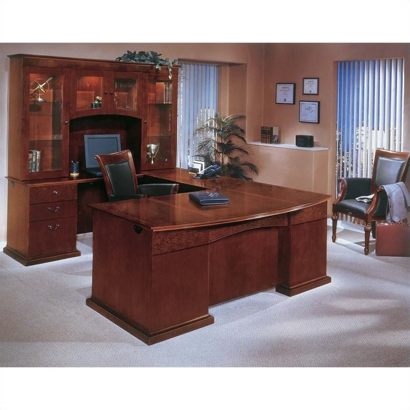 Dmi Del Mar Executive Bow Front L Shaped Desk 7302 6x