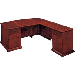 DMi Del Mar Executive Bow Front L-Shaped Desk
