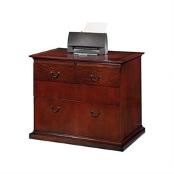 DMi Del Mar 2 Drawer Lateral Wood File in Sedona Cherry