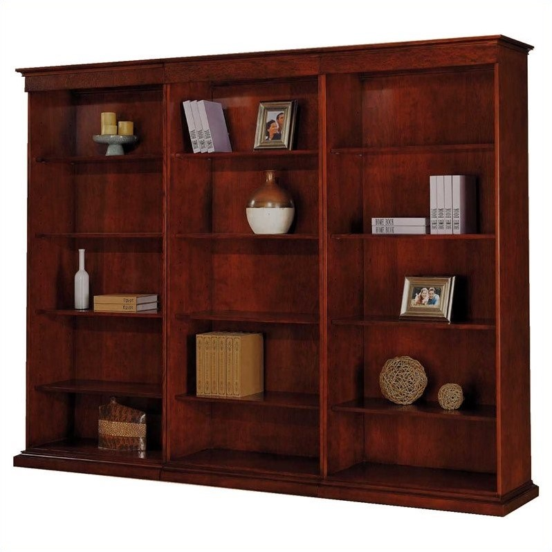 DMi Del Mar Right Hand Facing 5 Shelf Wood Bookcase in Sedona Cherry
