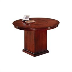 DMi Del Mar 4' Round Conference Table with Column Base in Cherry