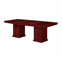 DMi Del Mar 8' Boat Shaped Conference Table with Column Base in Cherry
