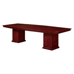 DMi Del Mar 10' Boat Shaped Conference Table in Cherry