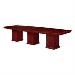 DMi Del Mar 12' Boat Shaped Column Base Conference Table in Cherry