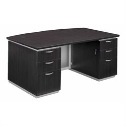 DMi Pimlico Laminate Executive Bow Front Desk (Flat Pack)