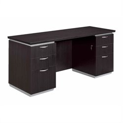 DMi Pimlico Laminate 72 in. Wood Kneehole Credenza (Flat Pack)