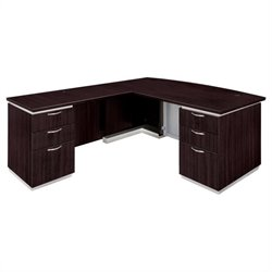 DMi Furniture Pimlico Laminate Executive Left Bow Front L-Shaped Desk (Flat Pack)