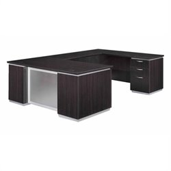DMi Pimlico Laminate Executive Right U-Shaped Desk (Flat Pack)