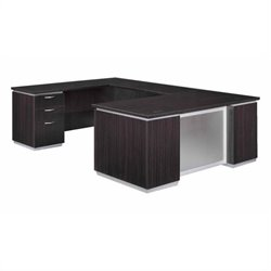 DMi Pimlico Laminate Executive Left U-Shaped Desk (Assembled)