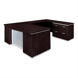 DMi Pimlico Wood Bow Front U-Shape Desk (Flat Pack)