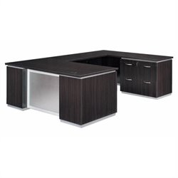 DMi Pimlico Lateral File U-Shape Wood Desk