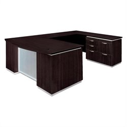 DMi Pimlico Right U-Shape Bow Front Wood Desk (Flat Pack)