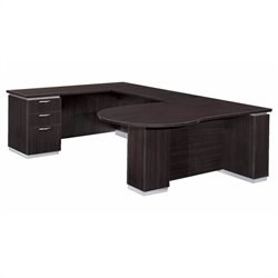 DMi Pimlico Left Peninsula U-Shape Wood Desk (Partially Assembled)
