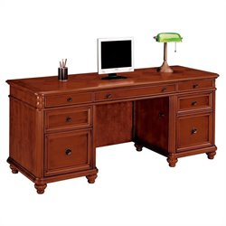 DMi Antigua Wood Kneehole Credenza in Cherry