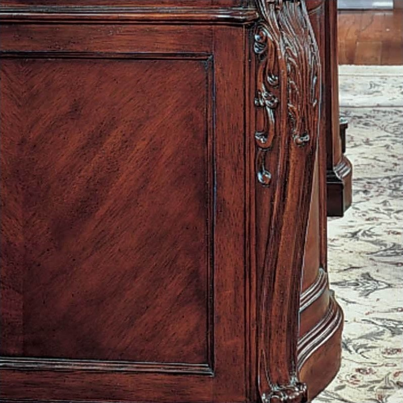 DMi Balmoor Executive Wood Credenza in Bordeaux Cherry