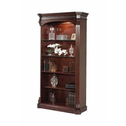 DMi Balmoor Standard 5 Shelf Wood Open Bookcase in Bordeaux Cherry