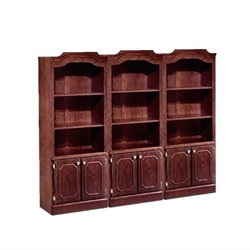 DMi Andover Wall Bookcase in Sherwood Mahogany Finish