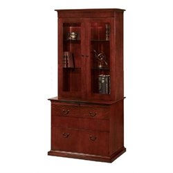 DMi Del Mar Lateral Wood Drawer Bookcase in Sedona Cherry