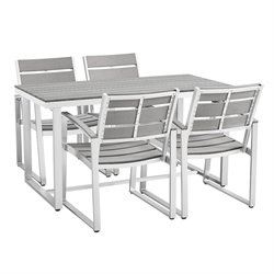 Ansville 5 Piece Dining Set in Gray