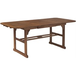 Acacia Wood Patio Dining Table in Dark Brown