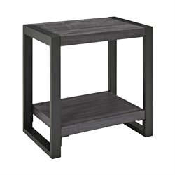 Walker Edison angelo HOME End Table in Charcoal