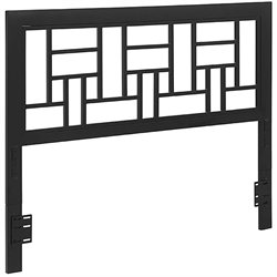 Walker Edison Queen Metal Square Headboard in Black