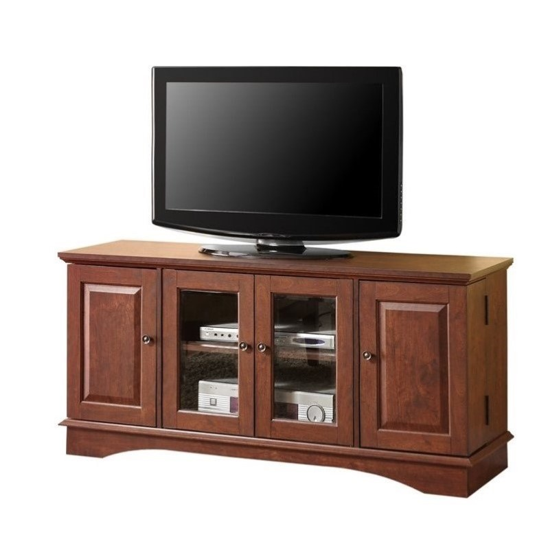 52 Quot Media Storage Wood In Brown Wq52c4drtb