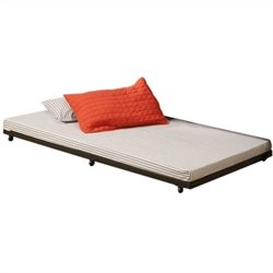Twin Roll-Out Trundle Bed Frame in Black