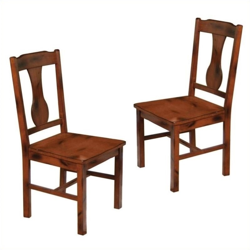 Dining Chair in Dark Oak (Set of 2)