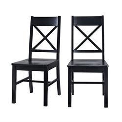 Dining Chair in Black (Set of 2)
